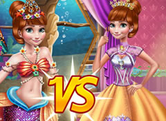 Frozen Anna Sereia vs Princesa