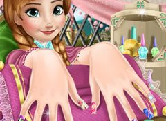 Frozen Anna Unhas Decoradas